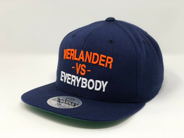 Justin Verlander vs EVERYBODY Hat - Navy Snapback