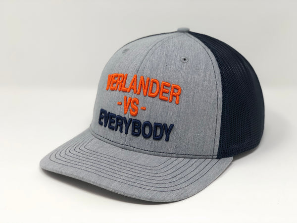 Justin Verlander vs EVERYBODY Hat - Grey/Navy Trucker