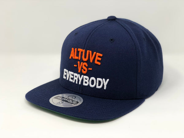 Jose Altuve vs EVERYBODY Hat - Navy Snapback