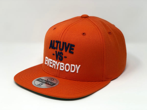 Jose Altuve vs EVERYBODY Hat - Orange Snapback