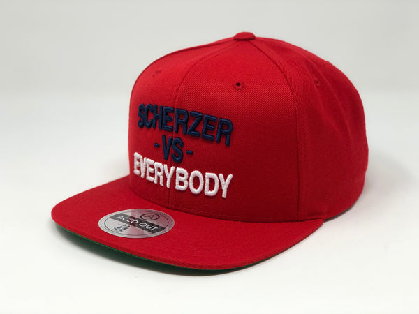Max Scherzer vs EVERYBODY Hat - Red Snapback