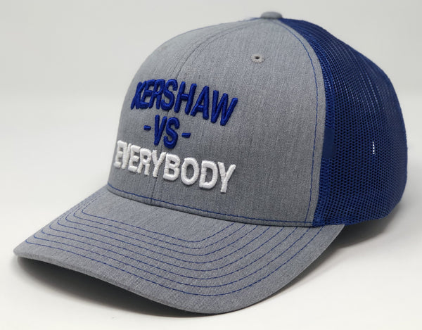 Clayton Kershaw vs EVERYBODY Hat - Grey/Royal Trucker