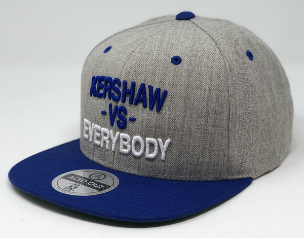 Clayton Kershaw vs EVERYBODY Hat - Grey/Royal Snapback