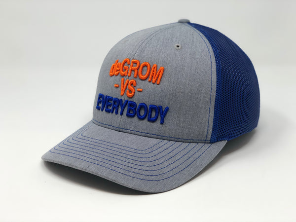 Jacob deGrom vs EVERYBODY Hat - Grey/Royal Trucker