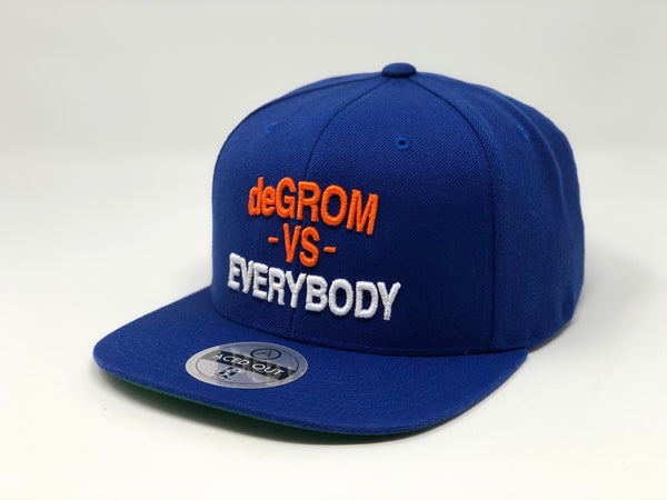 Jacob deGrom vs EVERYBODY Hat -  Royal Snapback