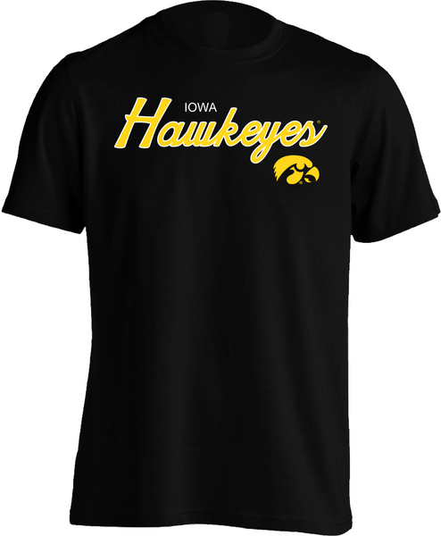 Iowa Hawkeyes Script - Mens Tee