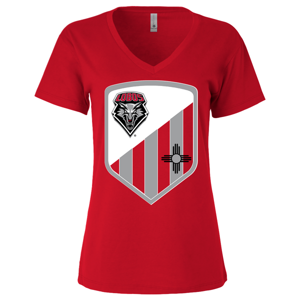 New Mexico Lobos Shield - Womens Vneck