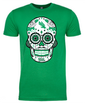 North Texas Mean Green Sugar Skull - Mens Tee