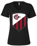 San Diego State Shield - Womens Vneck