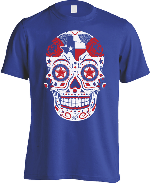 Texas Sugar Skull - Mens Tee