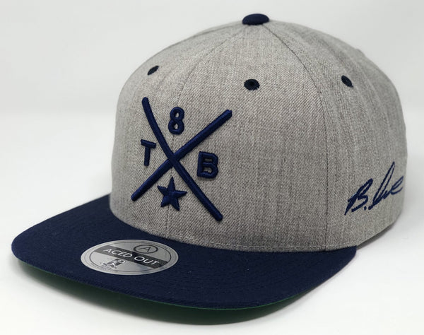 Brandon Lowe Compass Cap - Grey/Navy Snapback