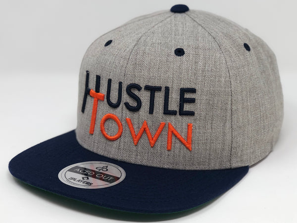 Hustle Town - Grey/Navy Snapback