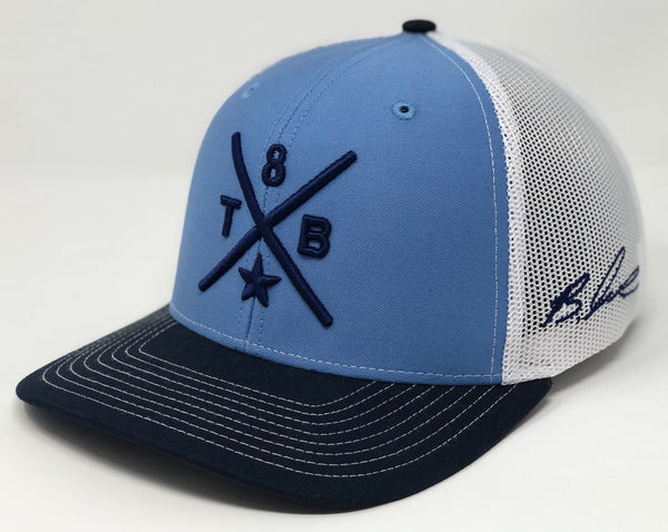 Brandon Lowe Compass Hat - Baby Blue/Navy/White Trucker