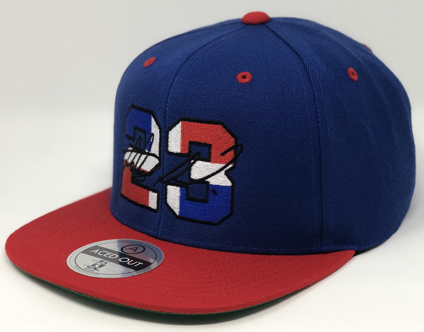 Fernando Tatis Jr 23 Dominican Republic Hat - Royal/Red Snapback