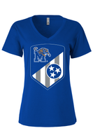 Memphis Tigers Shield - Womens Vneck