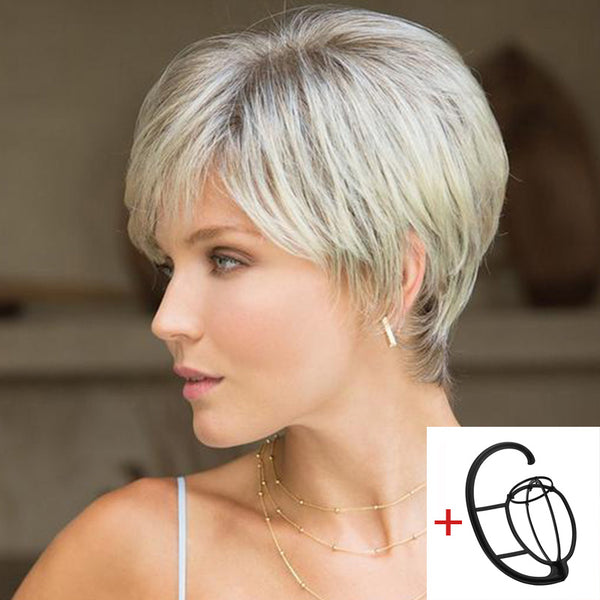 FIFTH ANNIVERSARY-LACE FRONT SHORT WIG-005