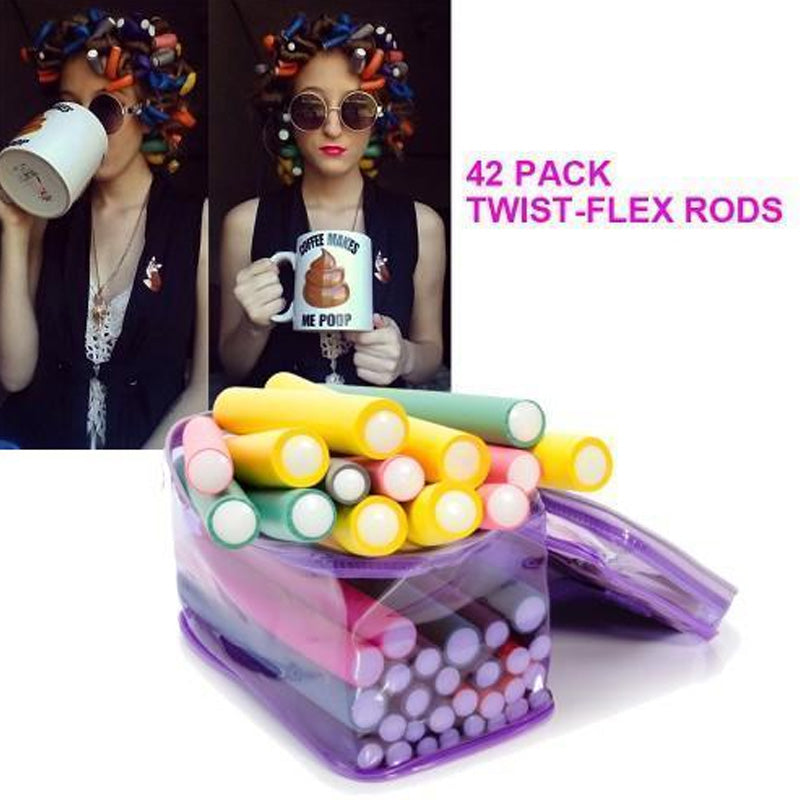 42 Pack Twist-flex Rods, Hair Rollers