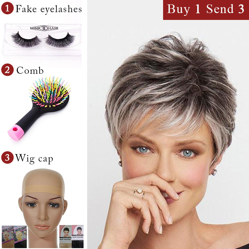 HOT SALE-LACE FRONT SHORT WIG (Short Pixie)-003