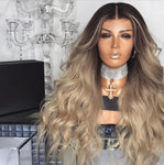 Gradual Champagne Color Long Hair-301