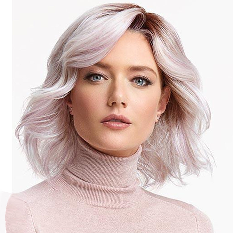 LIGHT PINK HUES LACE FRONT SHORT WIG