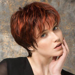 New Daily | Red-Black Synthetic Lace Front Wig