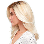 Gold Long Curly Synthetic Lace Front Wig