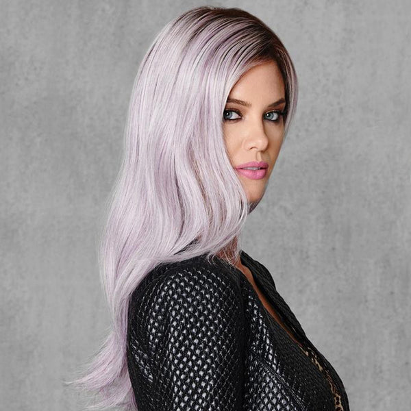 LILAC FROST SYNTHETICS LACE FRONT LONG WIG