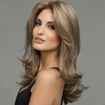 Gold-Brown Long Curly Synthetic Lace Front Wig