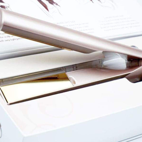 Anti-Static 2 in 1 Straightener and Curling Iron Dual