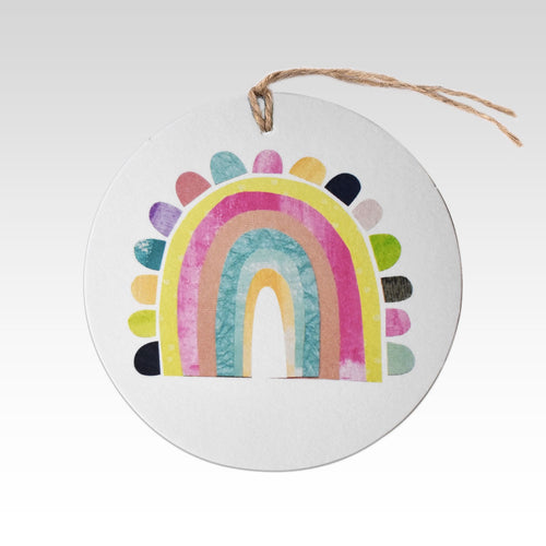 Colourful Rainbow - Gift Tag