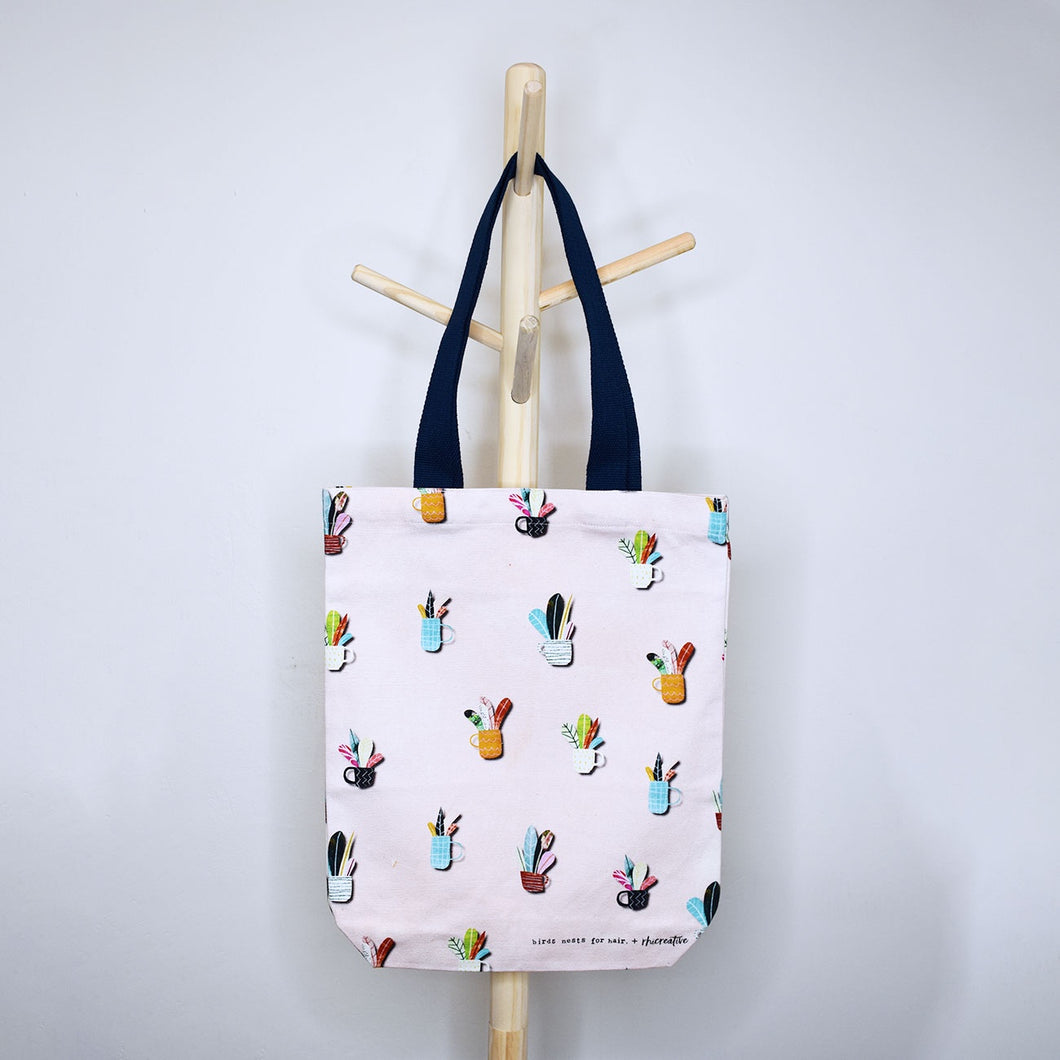 Leafy Cups Tote Bag