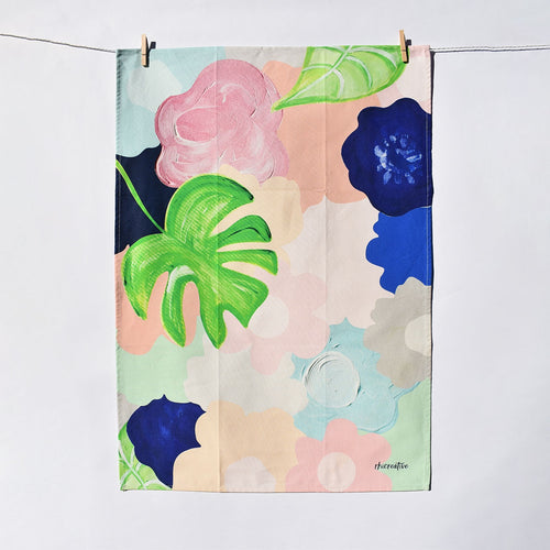 Bold Floral Tea Towel
