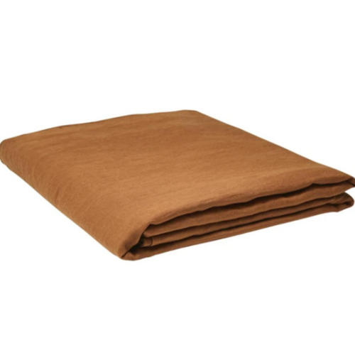 Linen Flat Sheet - Tobacco