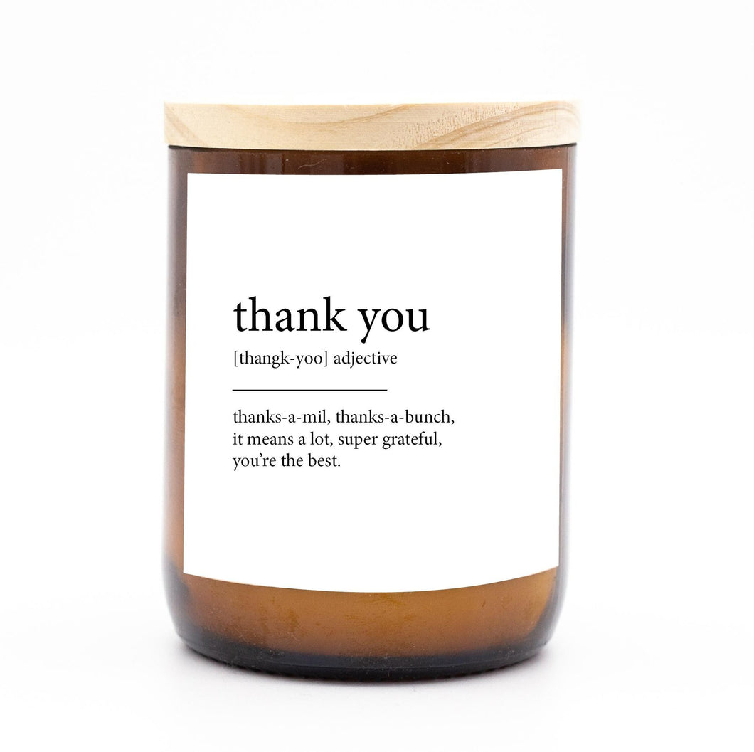 Dictionary Candle - Thank You