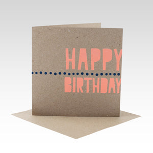 Happy Birthday Fluoro Peach - Gift Card