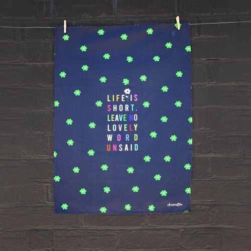 Lovely Words Tea Towel