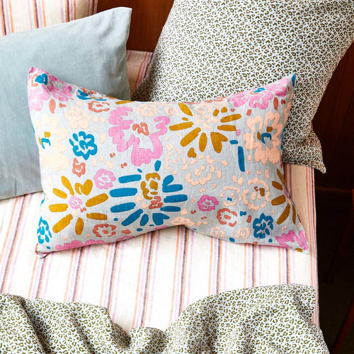 Carmen Linen Pillowcase set - Saltbush