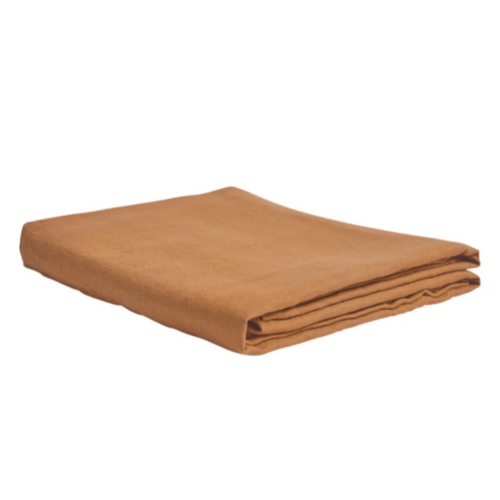 Linen Fitted Sheet - Tan