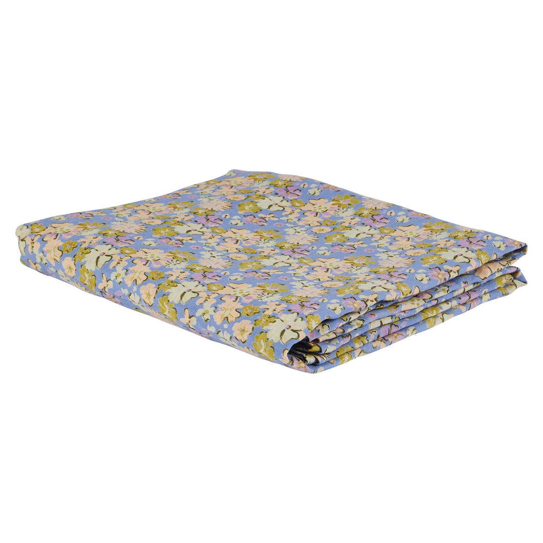 Loveat Linen Flat Sheet - Cornflower