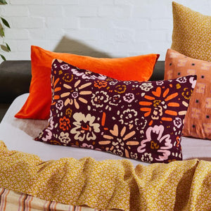 Carmen Linen Pillowcase set - Boysenberry