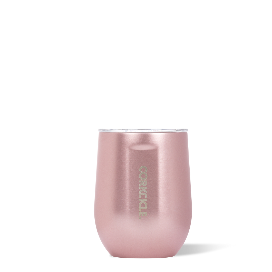 Corkcicle Stemless - Metallic Rose