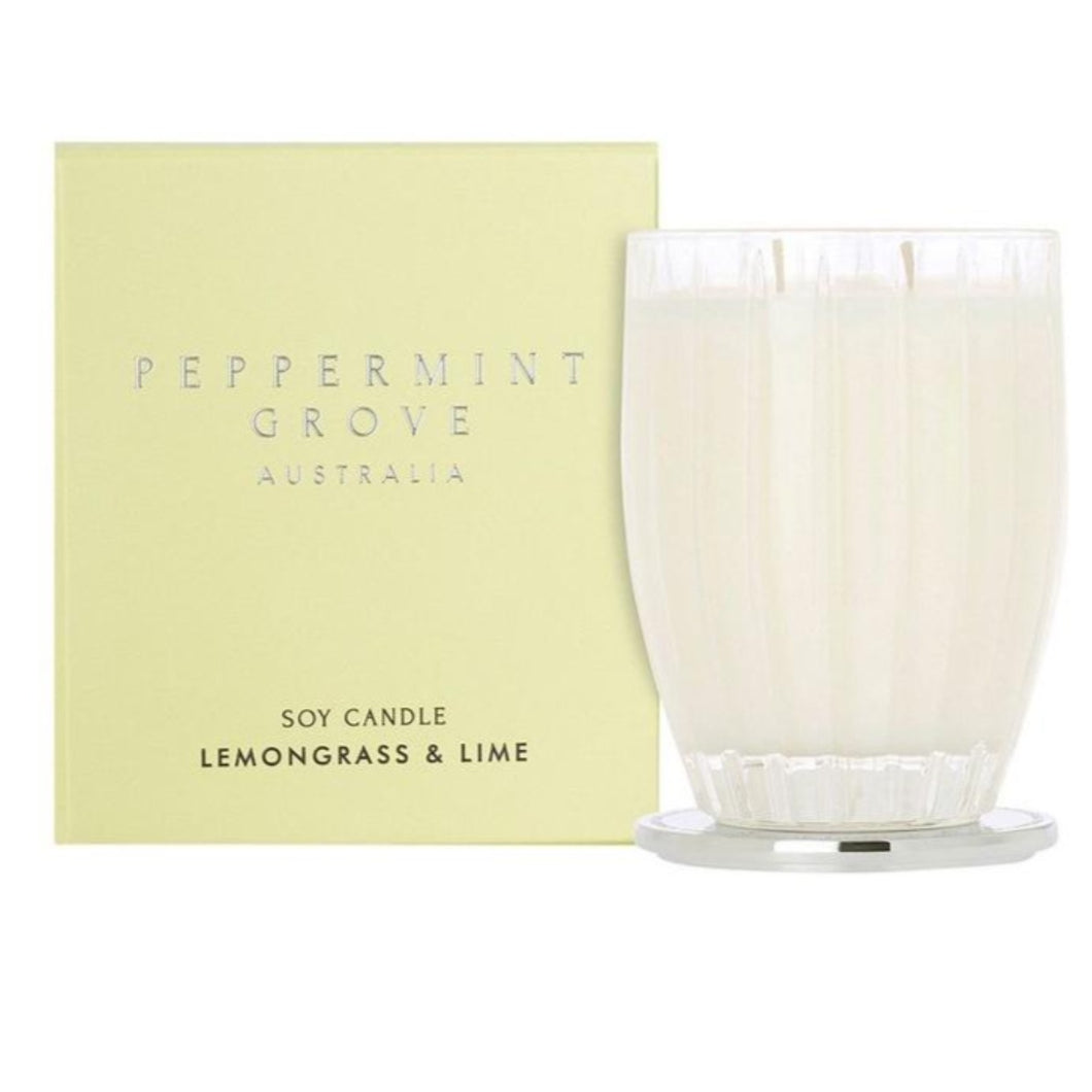 Peppermint Grove Candle - Lemongrass and Lime