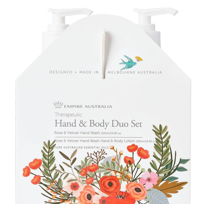 Rose and Vetiver Hand Care Duo