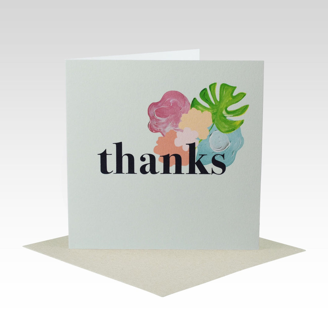 Bold Floral Thanks Card