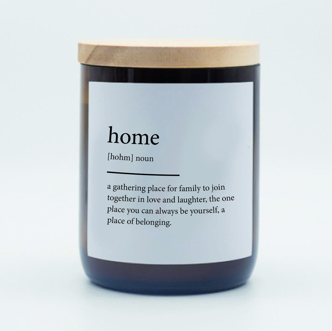 Dictionary Candle - Home