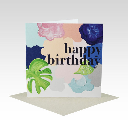 Bold Floral Birthday Card