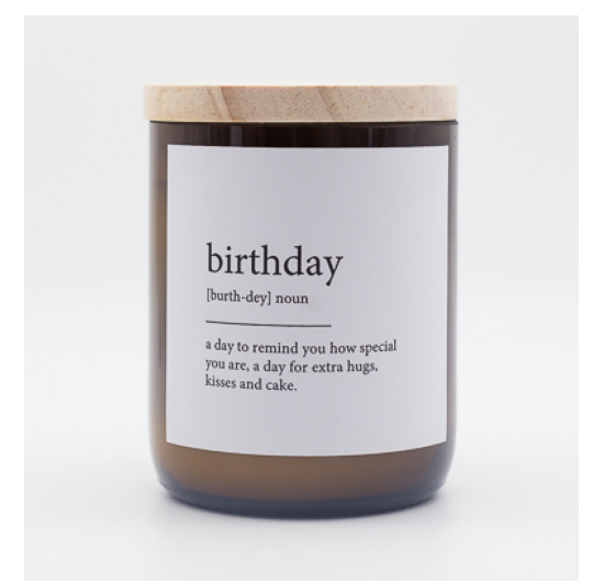Dictionary Candle - Birthday