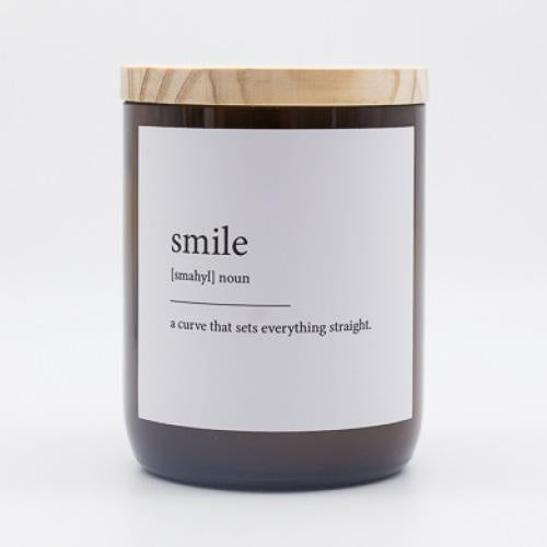 Dictionary Candle - Smile