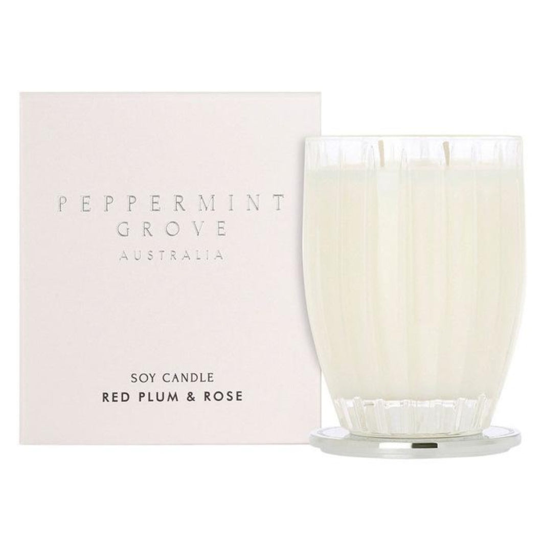 Peppermint Grove Candle - Red Plum and Rose