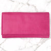 Eva Leather Wallet - Fuchsia
